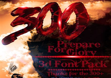 300 The movie Inspired 3d Font Pack - Free Photoshop