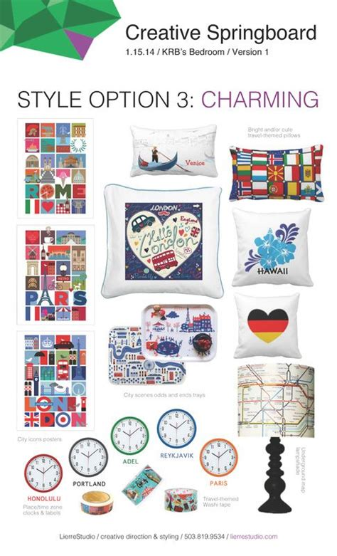 Creative Springboard for a travel-themed room | Travel