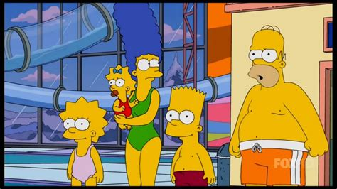The Simpsons: The Simpsons in a indoor Waterpark - YouTube