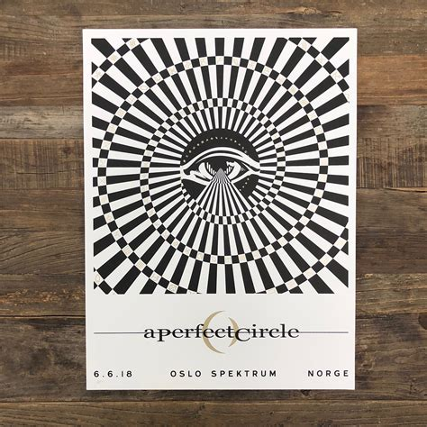 A Perfect Circle Gig Poster Oslo 2018 on Behance