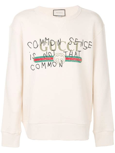 Lyst - Gucci Common Sense Is Not That Common Sweatshirt in