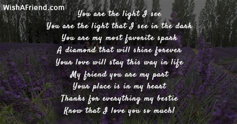 You are the light I see , Short Friendship Poem