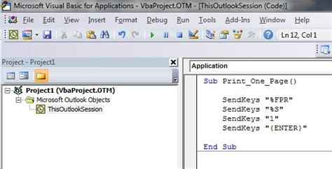 Print just the first page in Outlook [VIDEO]   A4 Accounting