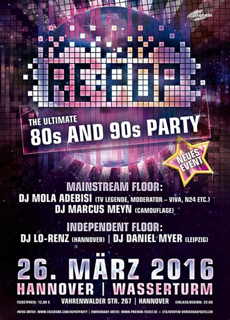 DIE ULTIMATIVE 80er und 90 PARTY | Event Associated Music
