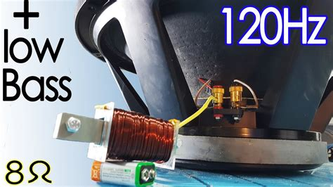 How to make a subwoofer have more bass, DIY 120 Hz Low