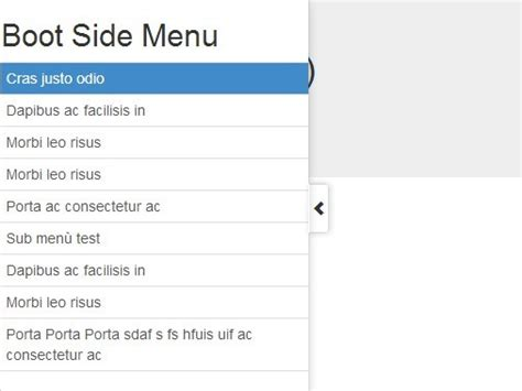 Sliding Side Menu/Panel with jQuery and Bootstrap