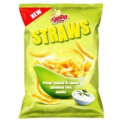 Simba - Straws Salty Snack Cream Cheese Chives 110G Prices