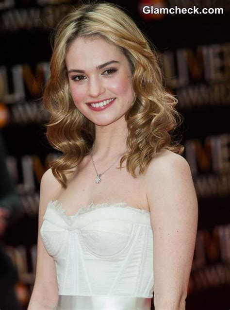 Lily James Glows in Black & White at Laurence Olivier