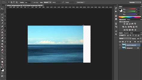 Extend an Image : Content Aware Scale Tutorial : Photoshop