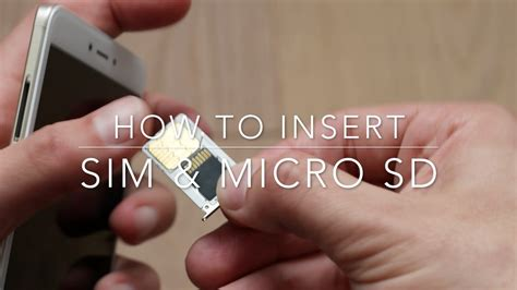 How to insert Sim and micro SD card in a Xiaomi Redmi Note