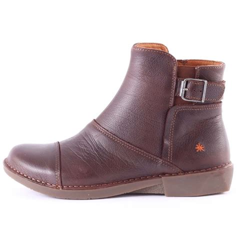 Art Bergen Womens Ankle Boots in Brown