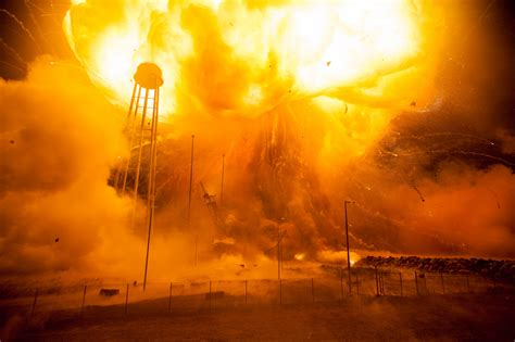 Intense Antares Rocket Explosion Shown in Newly Released