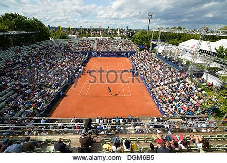 View from above of the Centre Court at Wimbledon Stock