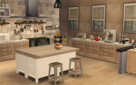 Sims Artists: Kitchen Rustique Chic • Sims 4 Downloads