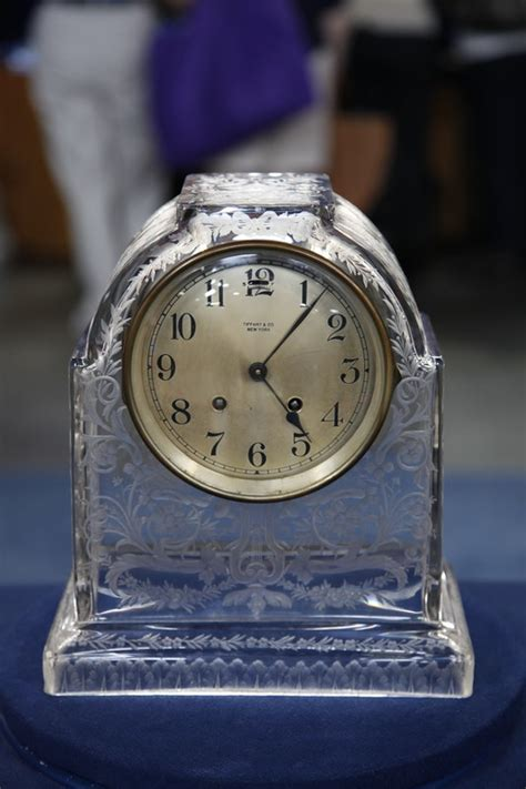 Early 20th-Century Tiffany Mantel Clock with Sinclaire