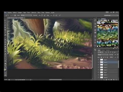 Paint grass with photoshop / Pintar hierba en photoshop