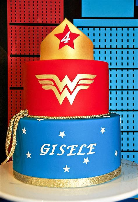 Comic Inspired Wonder Woman Dessert Table // Hostess with